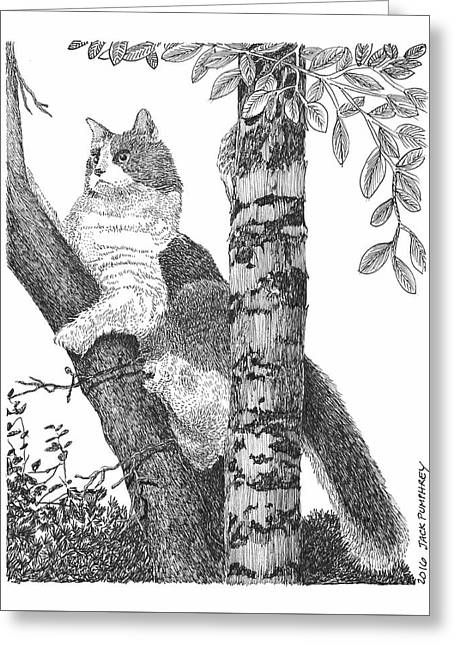 Leo In The Tree Greeting Card