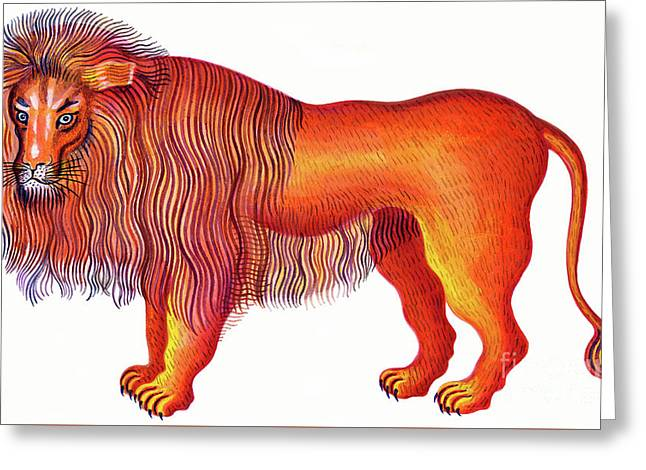 Leo The Lion Greeting Card by Jane Tattersfield