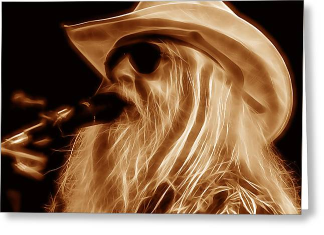Leon Russell Collecton Greeting Card by Marvin Blaine