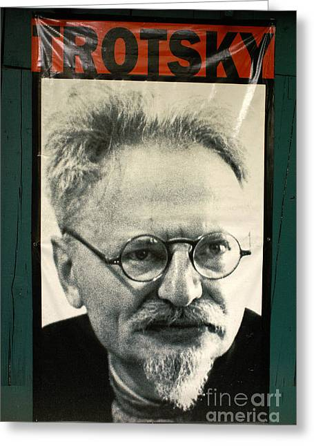 Leon Trotsky Poster Mexico City Greeting Card by John  Mitchell
