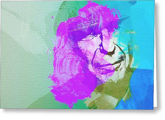 Leonard Cohen Greeting Cards - Leonard Cohen 3 Greeting Card by Naxart Studio