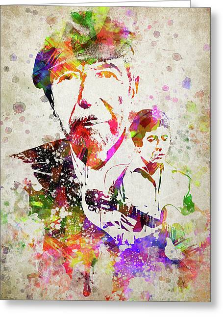 Leonard Cohen Color Greeting Card