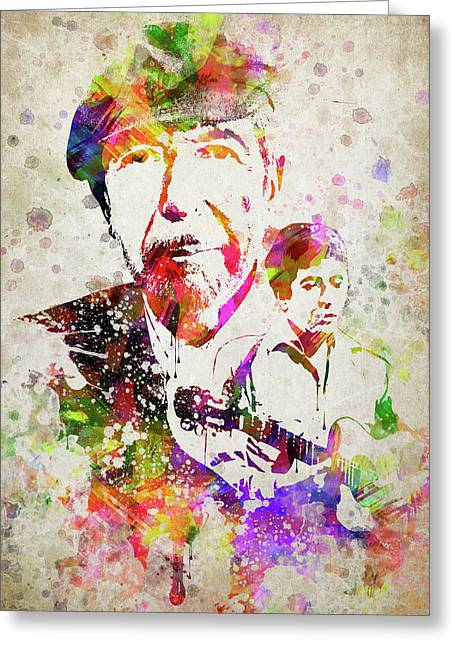 Leonard Cohen Color Greeting Card by Aged Pixel