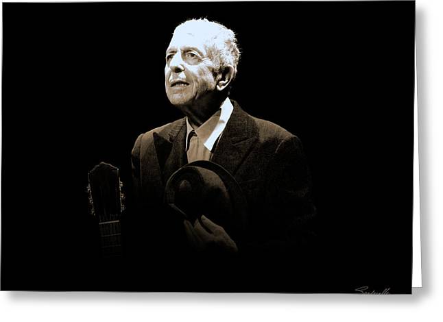 Portrait Of Leonard Cohen Greeting Card