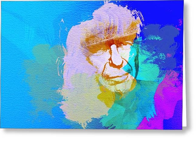 Leonard Cohen Greeting Card by Naxart Studio