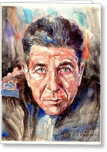 Leonard Cohen Painting Greeting Card
