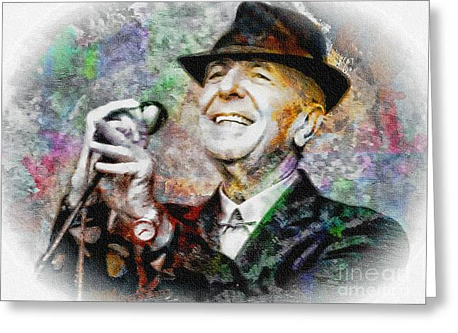 Leonard Cohen - Tribute Painting Greeting Card