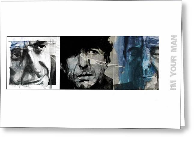 Leonard Cohen Triptych Greeting Card