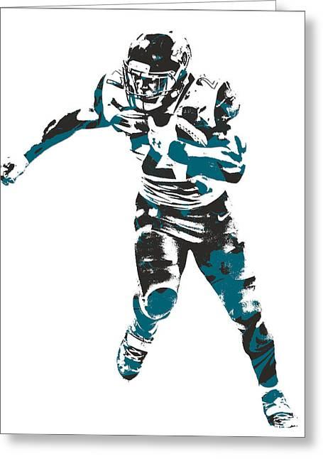 Leonard Fournette Jacksonville Jaguars Pixel Art 10 Greeting Card