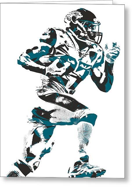 Leonard Fournette Jacksonville Jaguars Pixel Art 11 Greeting Card