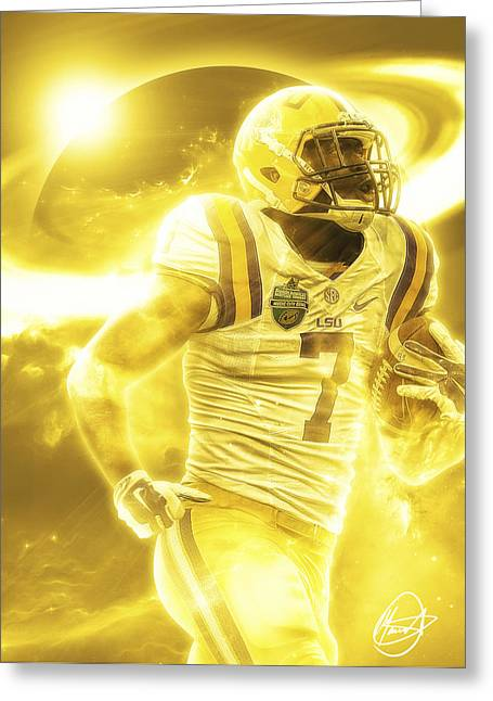 Sec Greeting Cards - Leonard Fournette Greeting Card by Mario Aguilar