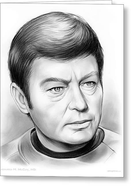 Leonard Mccoy Greeting Card by Greg Joens