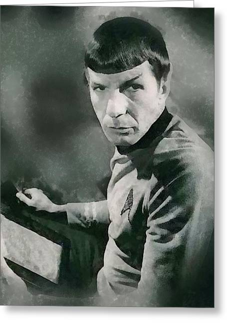 Leonard Nimoy By John Springfield Greeting Card