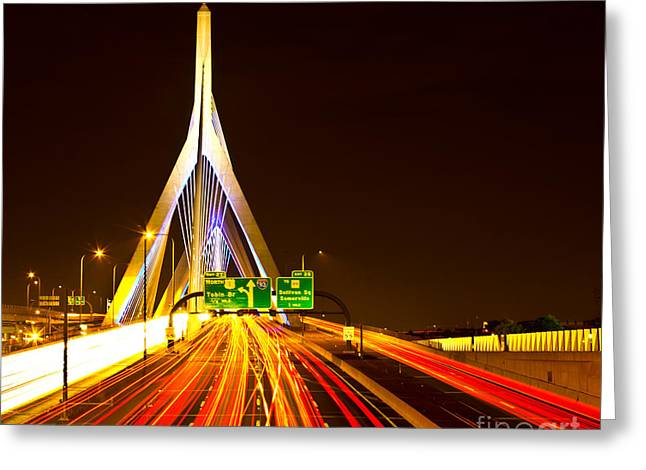Leonard P. Zakim Bunker Hill Bridge  Greeting Card