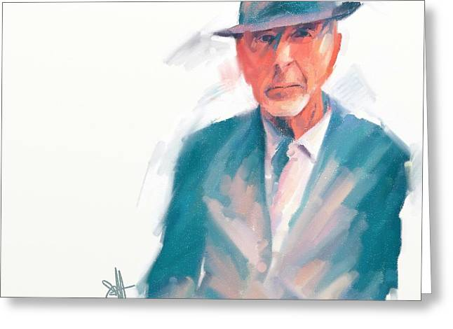 Leonard Greeting Card by Scott Waters