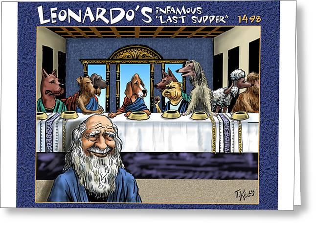 Leonardo's Infamous Last Supper Greeting Card