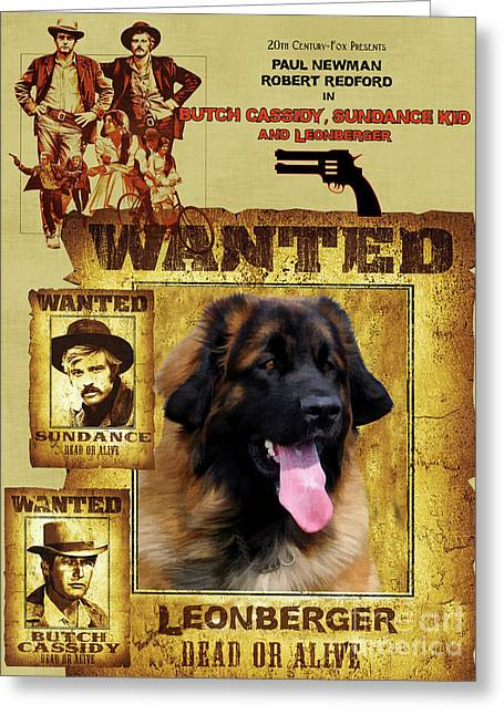 Leonberger Art Canvas Print - Butch Cassidy And The Sundance Kid Movie Poster Greeting Card