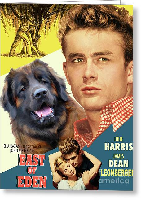 Leonberger Art Canvas Print - East Of Eden Movie Poster Greeting Card