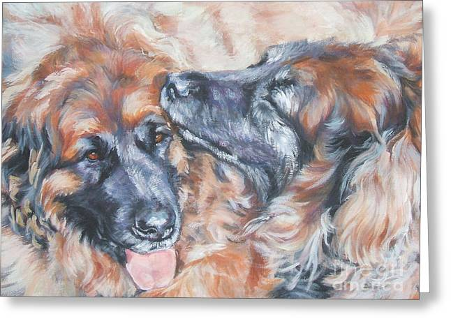 Leonberger Pair Greeting Card