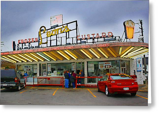 Leon's Custard Stand Greeting Card