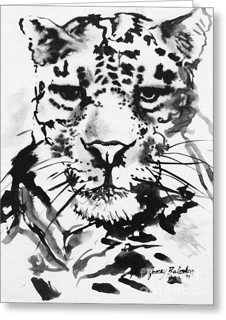Leopard Greeting Card by Jamey Balester