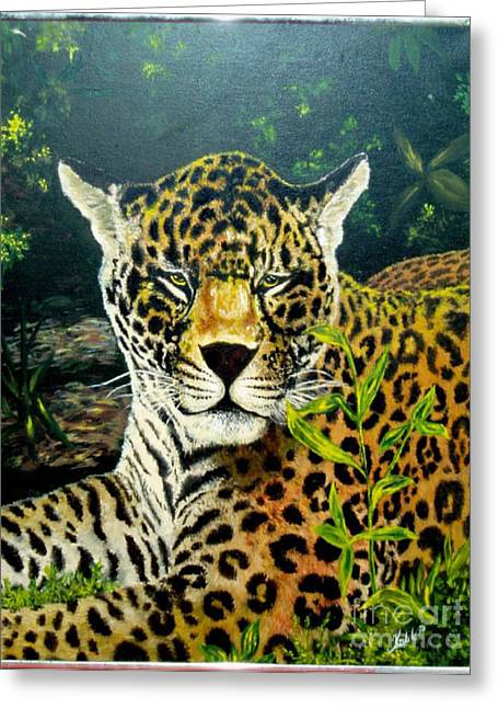Leopard Greeting Card by Peter Kulik