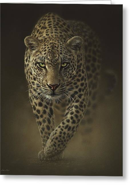 Leopard Prowling - Savage Greeting Card