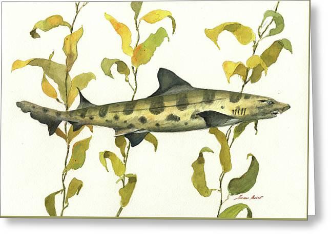 Leopard Shark Greeting Card