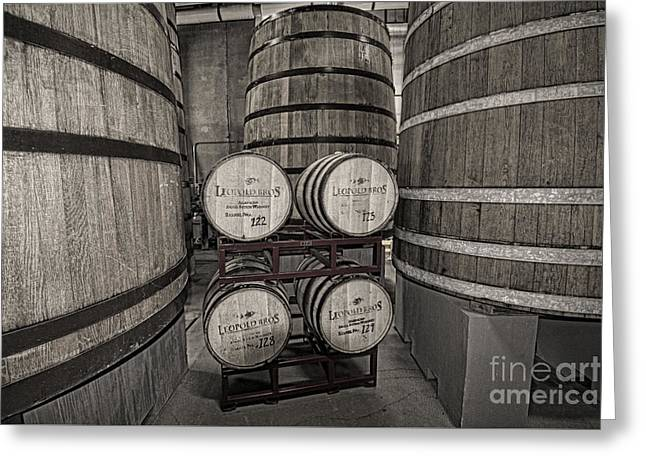 Leopold Bros Barrels Greeting Card by Keith Ducker