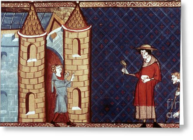 Leper House, C1220-1244 Greeting Card by Granger