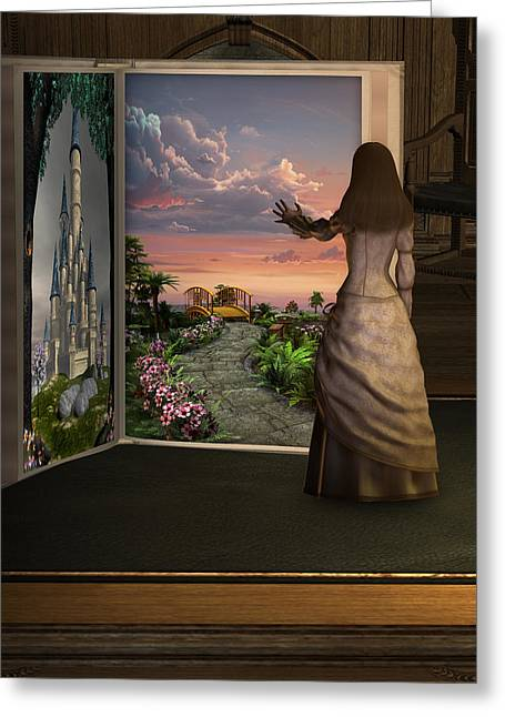 Let Your Imagination . . . Greeting Card by David Griffith