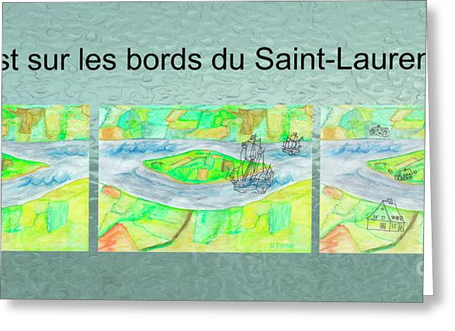 C'est Sur Les Bords Du Saint-laurent Mug Shot Greeting Card by Dominique Fortier