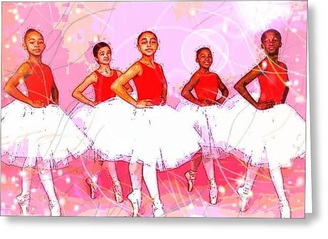 Les Danseurs Noirs Greeting Card
