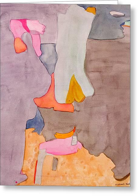 Les Demoiselles Of Santa Cruz V6 Greeting Card by Susan Cafarelli Burke