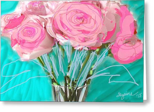 Les Fleurs De Winter Greeting Card by Suzaine Smith