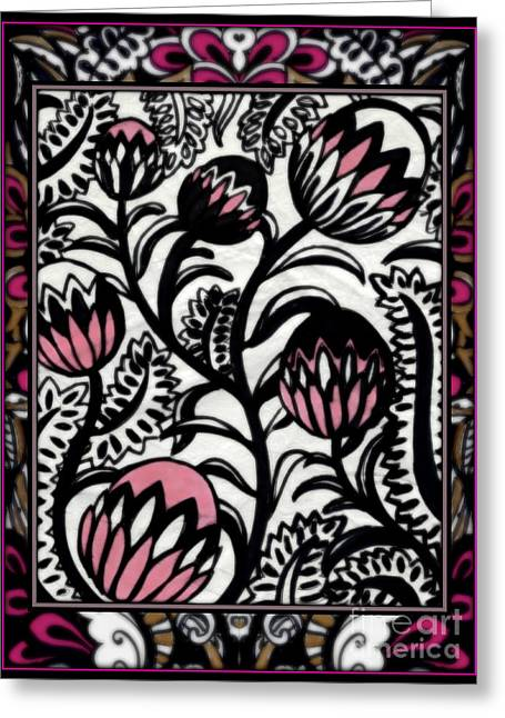 Les Fleurs Deco Greeting Card