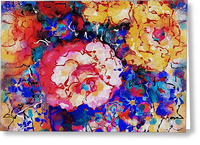 Les Fleurs Greeting Card by Natalie Holland