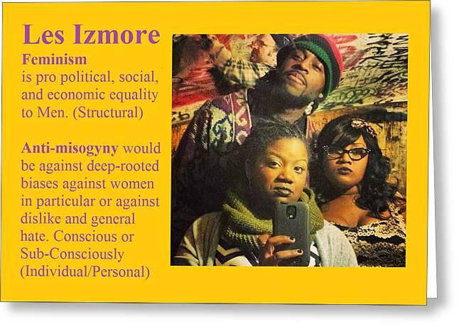 Les Izmore Feminism Greeting Card