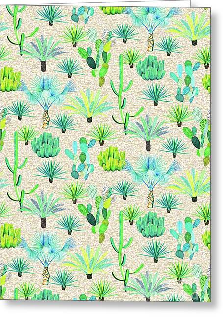 Les Jardins Majorelle  Cacti Greeting Card