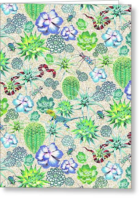 Les Jardins Majorelle  Succulents Greeting Card