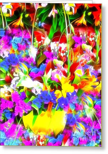 Les Jolies Fleurs Greeting Card