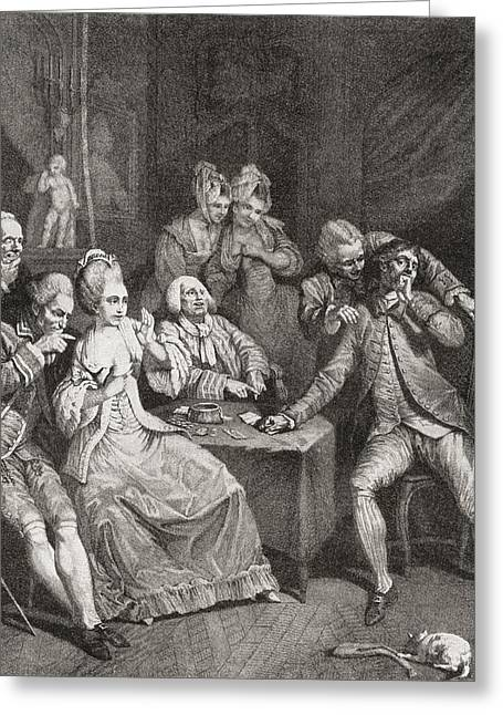 Les Joueurs, Or The Players, After P.a Greeting Card