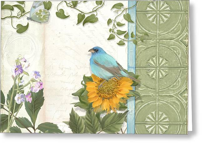 Les Magnifiques Fleurs Iv - Secret Garden Greeting Card by Audrey Jeanne Roberts
