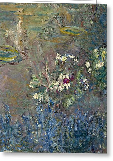 Les Nympheas Greeting Card by Claude Monet