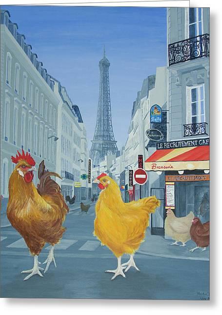 Les Parisiens Greeting Card