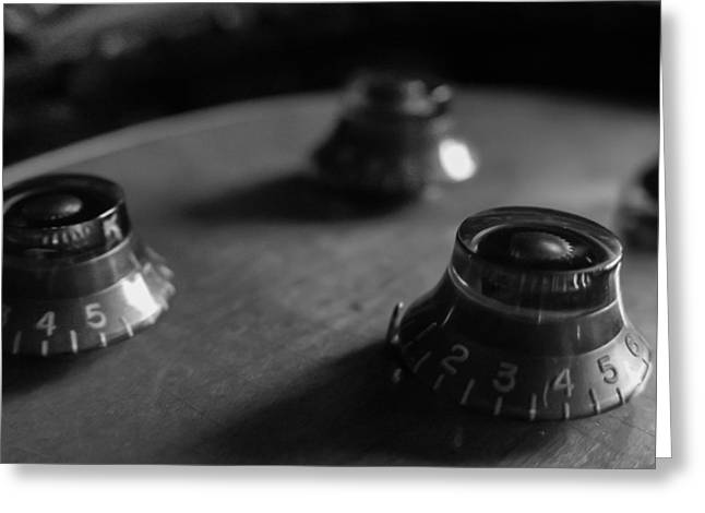 Les Paul Controls Series  Greeting Card