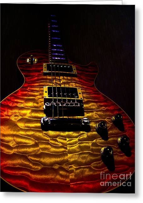 Guitar Custom Quilt Top Spotlight Series Greeting Card