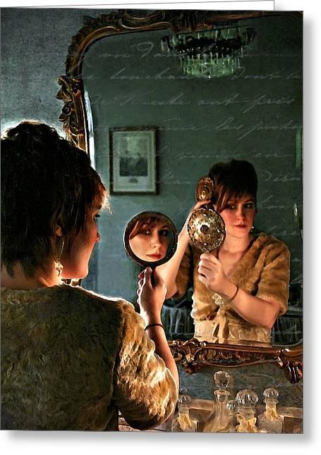 Les Reflexions De Femme Greeting Card