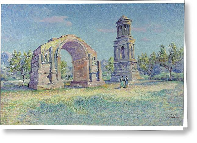 Les Ruines Romaines De Saint Greeting Card by MotionAge Designs