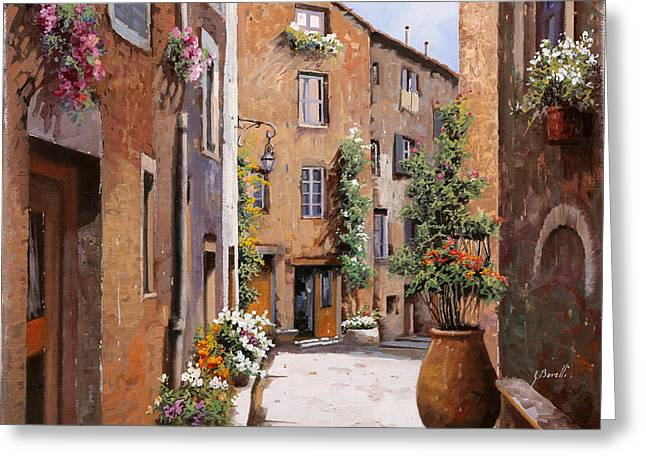 Les Tourrettes Greeting Card by Guido Borelli